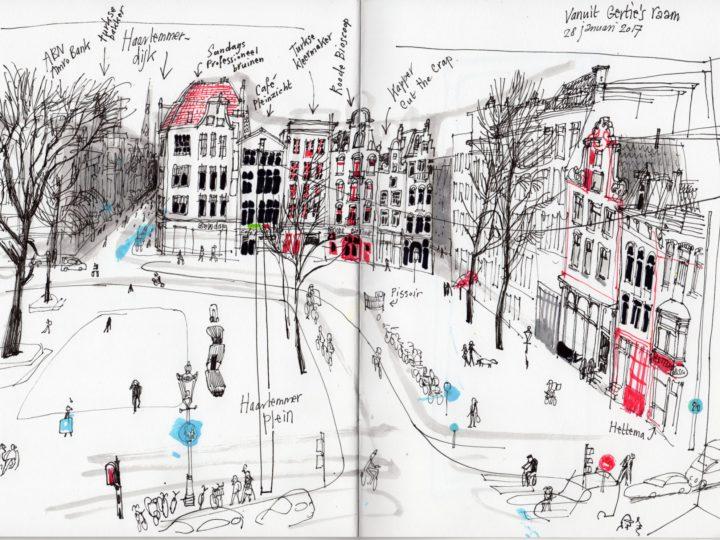 Haarlemmerpoort. Vanuit het raam