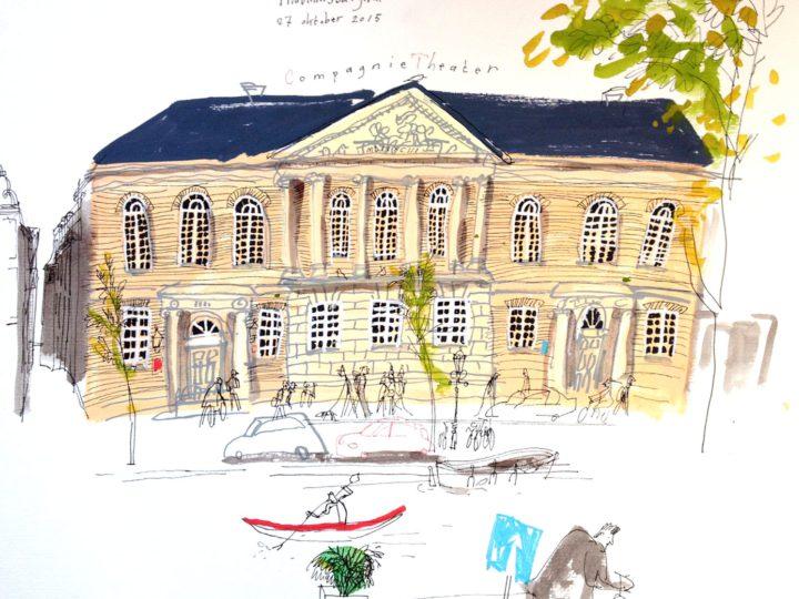Kloveniersburgwal. Het Compagnietheater